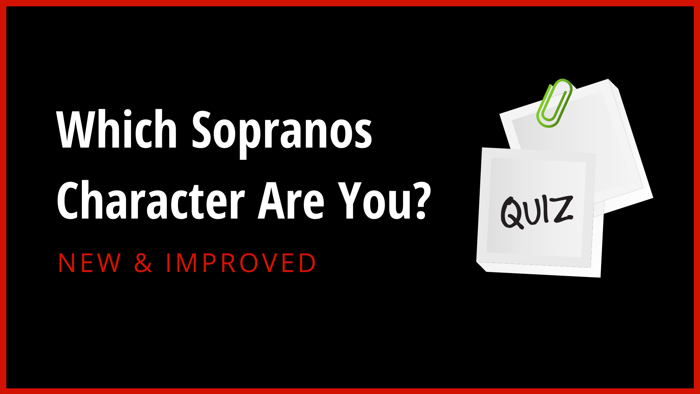 The Sopranos Character Quiz