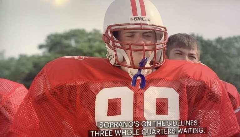 "A.J. Soprano on the football field in Season 3, Episode 3, ""Fortunate Son"""
