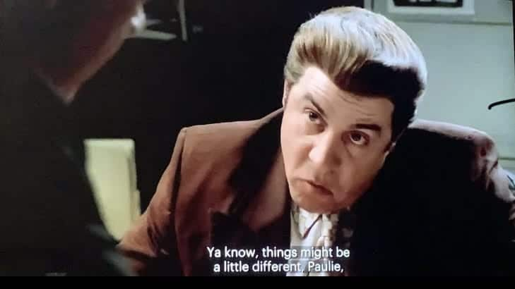 Silvio Dante talking to Paulie