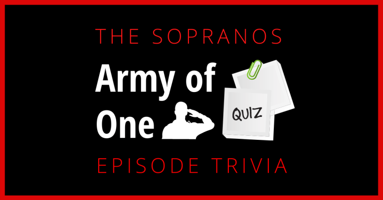 Army of One Sopranos Quiz