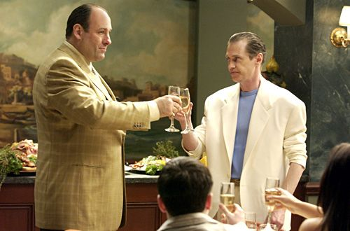 Tony Soprano toasting to Tony Blundetto coming home from prison.