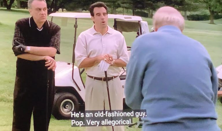 Little Carmine Lupertazzi is on the golf course with Carmine Senior and Johnny Sack talking about Tony Soprano.