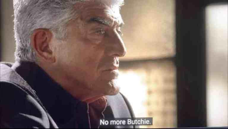 "phil leotardo is saying ""No more, Butchie."""