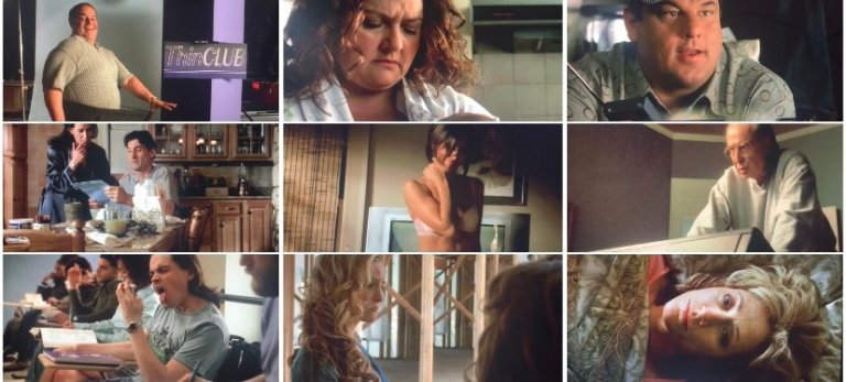 """Photos of every Sopranos character appearing in the season six opening """"Seven Souls"""" montage."""
