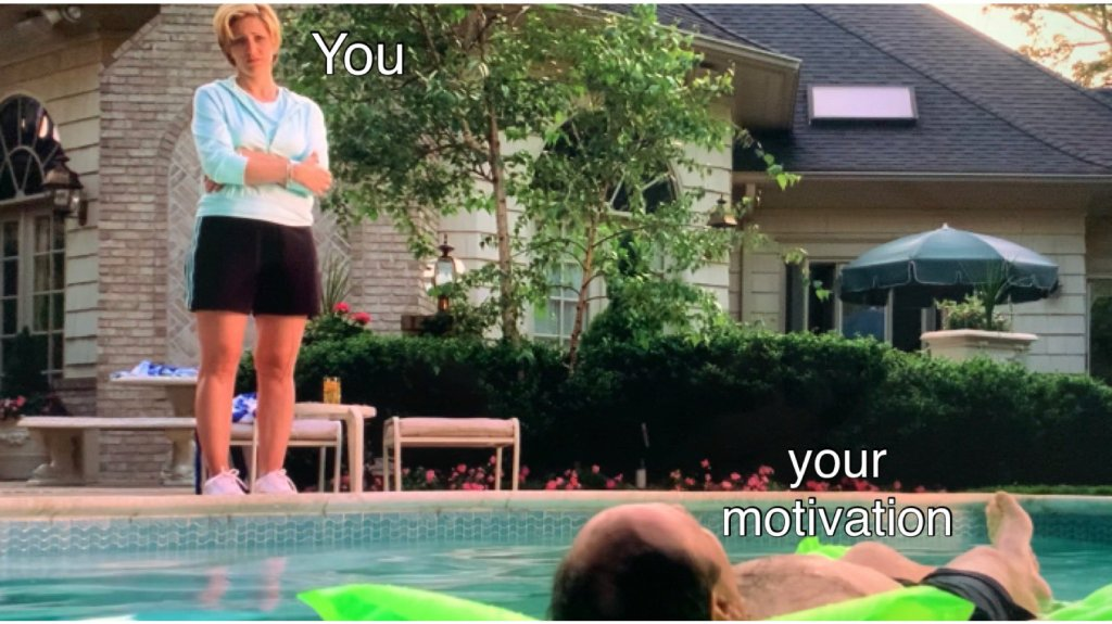 carmela is staring at tony laying on a green raft in the pool.