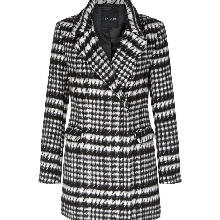manteau-noir-motif-pied-de-poule