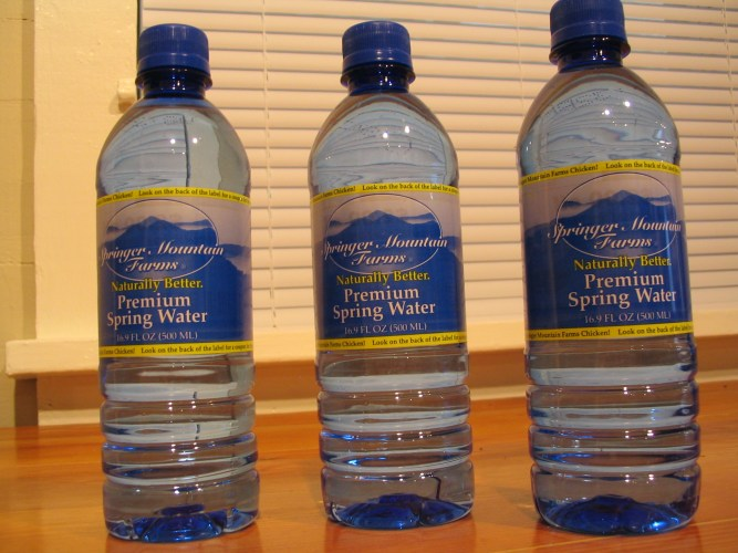 Premium Spring Water - Compliments of Springer Mountain Farms