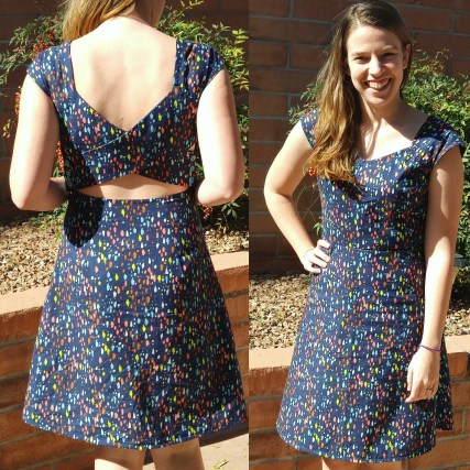 Cross-back dress | basic stitch