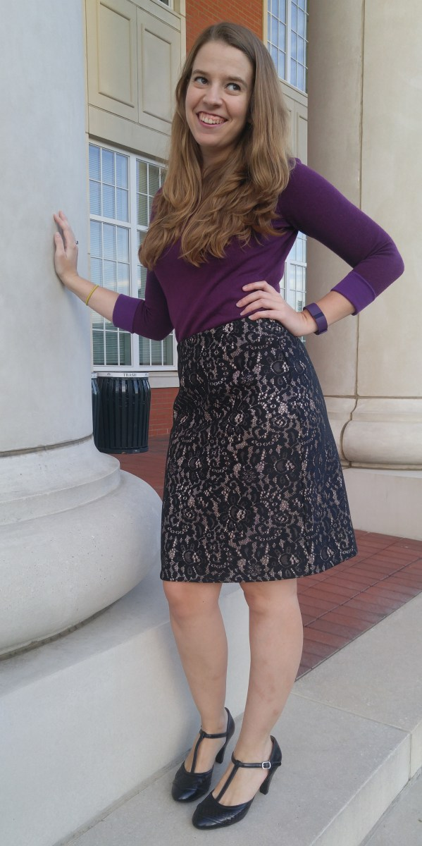 Lace Pencil Skirt - Simplicity 1465