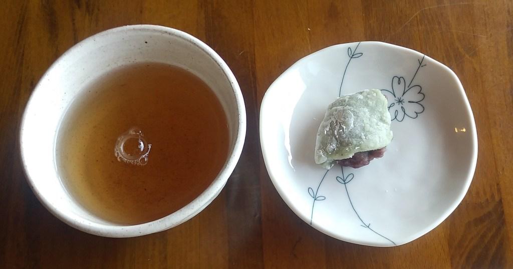 小豆カフェあんこサービスのお餅