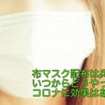布マスク配布は兵庫県はいつからどうやって?コロナに効果はあるの?