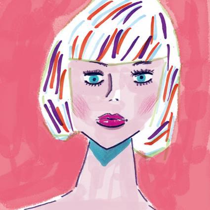 絵の具で描いた手描きのかわいいイラスト
