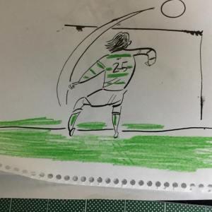 サッカー選手の中村俊輔選手のイラスト