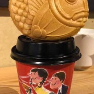 熊本天草の珈琲豆専門店「赤い月珈琲」オリジナル紙カップのイラストレーションを担当しました