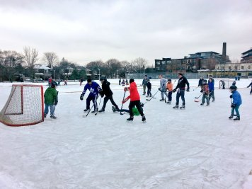 Sorauren rink action on the last day of January 2015