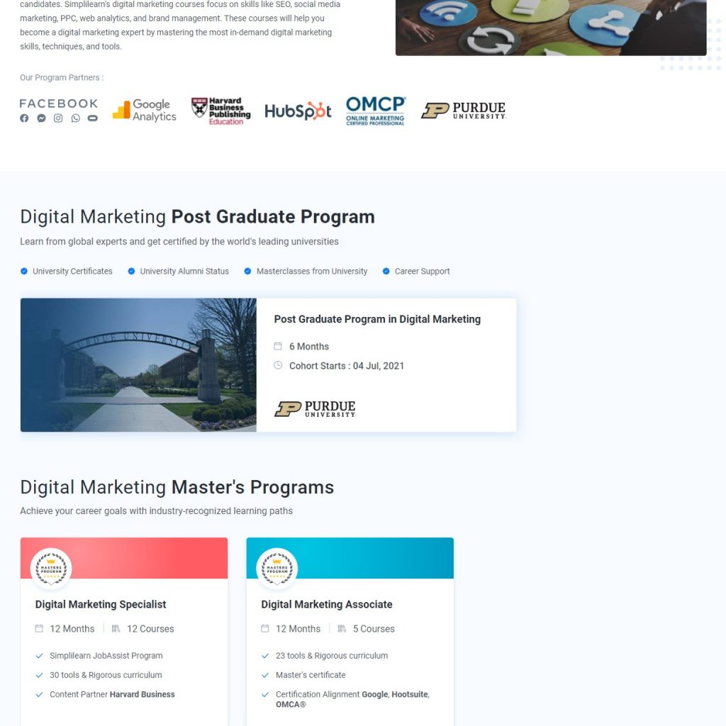 Simplilearn Digital Marketing Training Courses Online