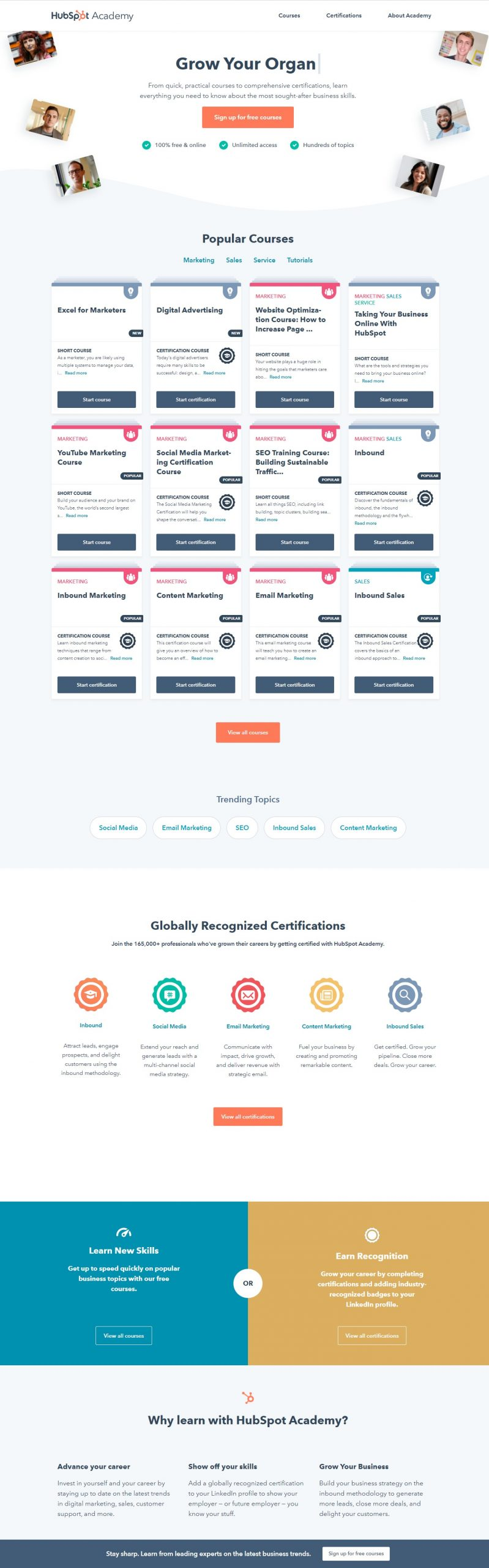 HubSpot Online Marketing Courses