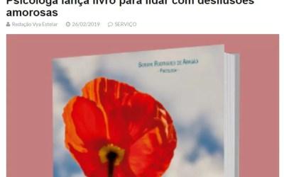 Release do livro Supere desilusões amorosas e pertença a si mesmo! Elaborado e publicado no site Vya Estelar.