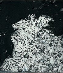'Untitled V' ink on paper, 19 by 15 inches, 2010 (sold)