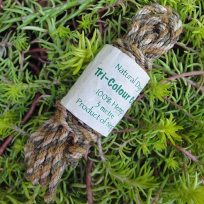Hemp Tri-Colour Cordage (Forest Green)