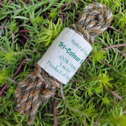 Hemp Tri-Colour Cordage (Forest Green)