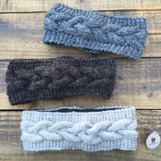 Wool Cable Knit Headband