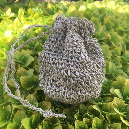 Hemp Mini Crochet Pouch