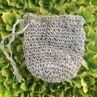 Hemp Mini Crochet Pouch