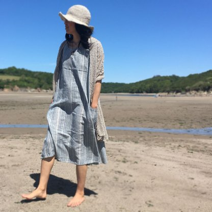 Chobi Sleeve Long Dress