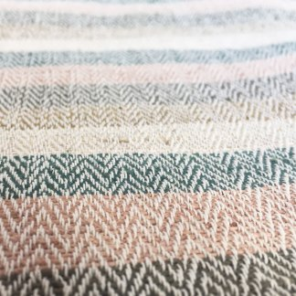 Nettle Organic Cotton Stripe Fabric