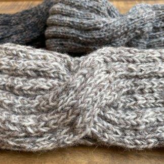 Wool Crossover Knit Headband