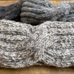 Wool Crossover Knit Headband