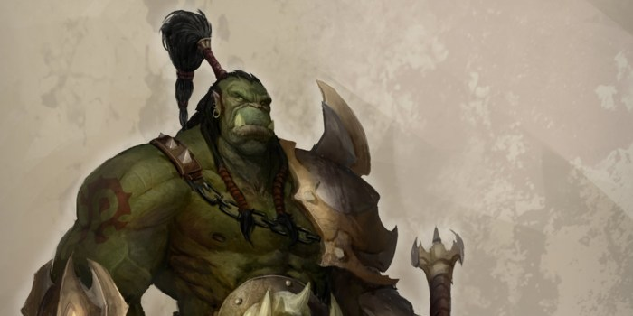 An orc warrior from World of Warcraft