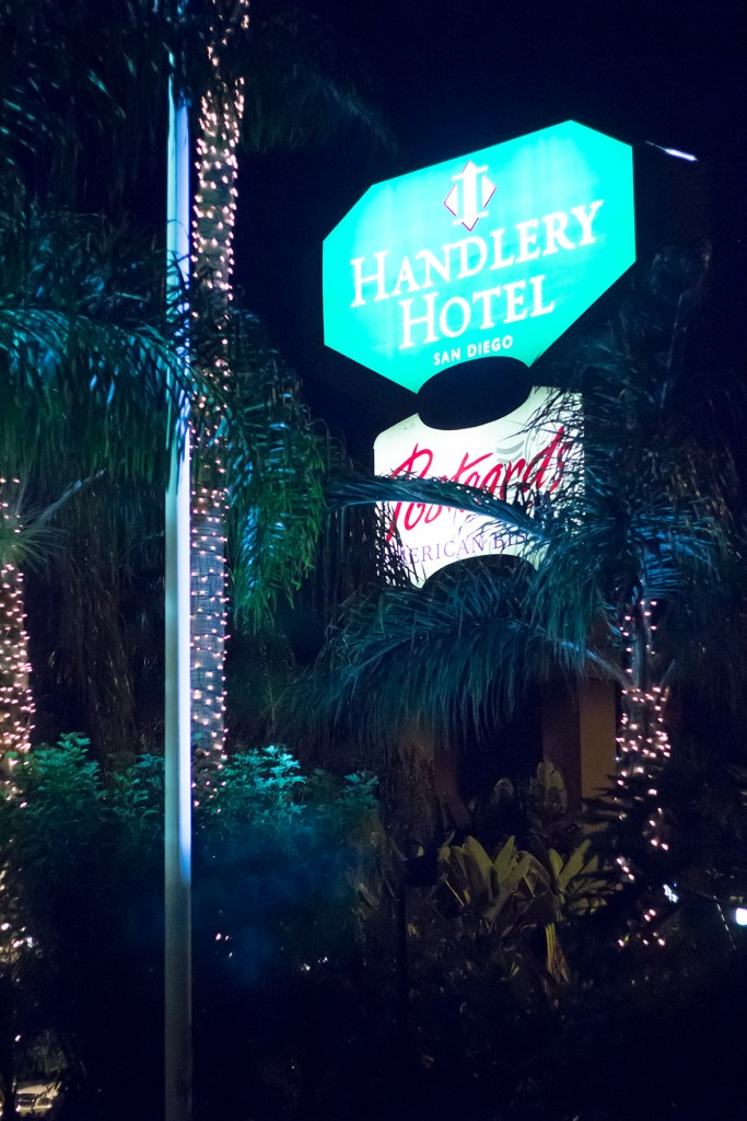 Handlery Hotel sign