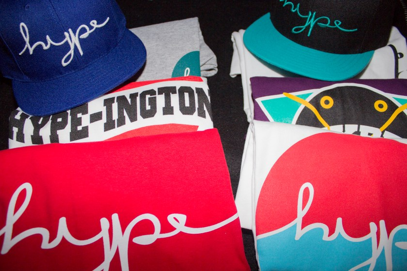 Hype Apparel hats and tee shirts