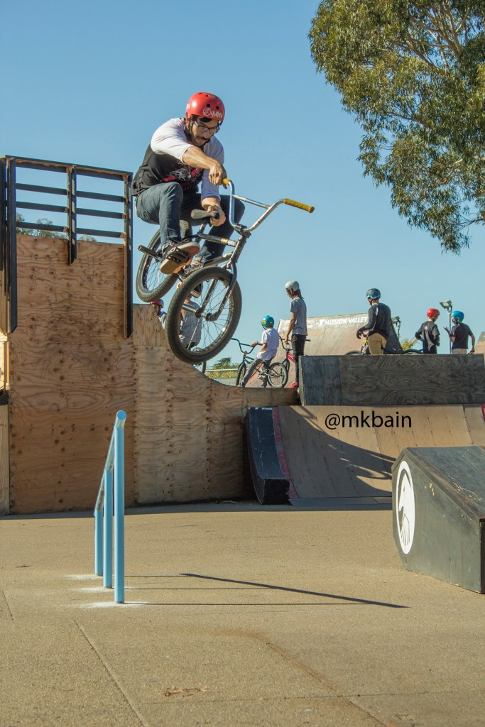 Albert Mercado performs an uprail taboggin