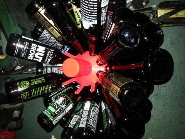 rack for drying beer bottles