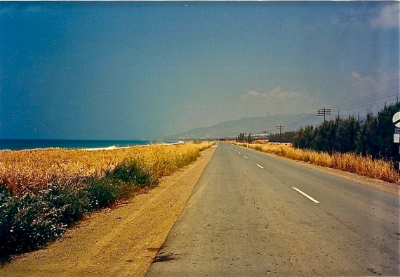 In Cyprus, you drive on the left, but it made no difference, there was no other traffic in sight.