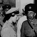 Field Marshal Fawzia commiserates with King Abdullah of Jordan.