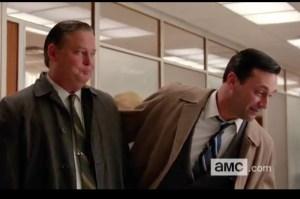 Don and Freddy leaving the office