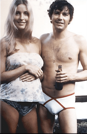 Sharon Tate and Jay Sebring days before their murder. Does she remind you of Don's niece Stephanie?