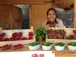 Laura al market di Vigo