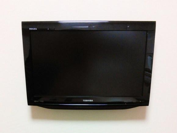 壁掛けテレビ設置状態