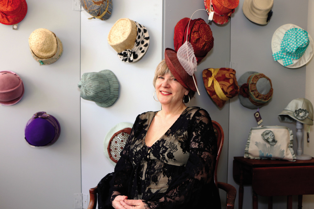 Geraldine Purcell's unique hat creations make a bold sartorial statement