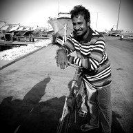 "Anandu works as a fisherman on a boat from Wakrah for more than 3 years. "" This is a hard job to do. It takes 6-7 hours to get to our fishing spot and we spend 2-3 days at sea. We get little time to sleep or take breaks. Fishing is like that, when you are on the boat, you have to work hard"" he said. He has a family back home in Chittagong, Bangladesh. "" Working here is difficult, but at least I can give my children a better future."""