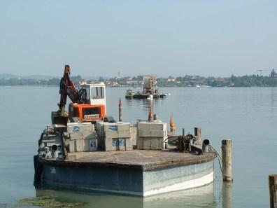 Palancole per lavorazione fluviali a Sarnico
