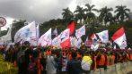 Aksi Unjuk Rasa Buruh Dalam HUT FSPMI Ke 18