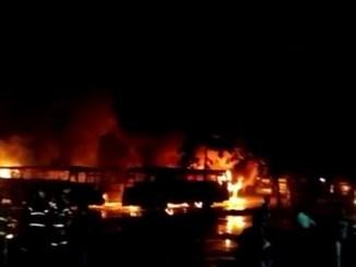 Kebakaran Pool Mayasari Bakti