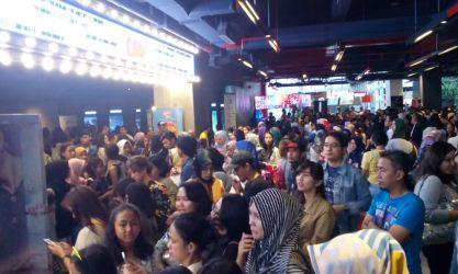 Gala Premier film Naura dan Genk Juara di CGV Paskal Square 23, Kota Bandung.