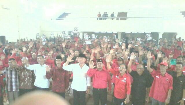 Rapat konsolidasi DPC PDIP Kota Banjar yang ikut dihadiri oleh Tubagus Hasanuddin, Rabu (31/1/2018).
